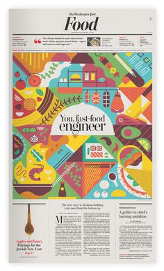 Amazing newspaper cover #design #graphic #newspaper