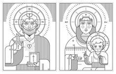 Orthodox icons | Ryan Clark #icon #illustration #religion #orthodox #holy