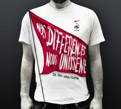 "Nike ""Nos Différences Nous Unissent"" on the Behance Network #nike #tshirt #tee"