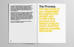 Y2 Architecture #helvetica #minimal #swiss #brochure #yellow #black #clean #circles #bold