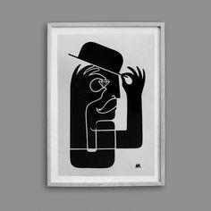 Archie McLeish | â–² Graphics / Design / Illustration / Painting / & Beyond #print #diamond #screen #illustration #hat #textile #arch #character