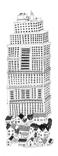 tumblr_m1isuhaY0z1r7d083o1_r7_1280.jpg (JPEG Image, 708×1892 pixels) #drawing #illustration #york #pencil #new