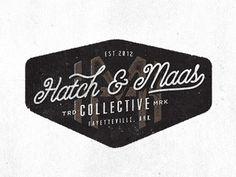 Hatch & Maas by Jeremy Teff #logo #script #identity #texture
