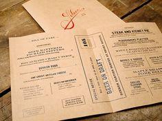 Art of the Menu: Saloon #print #menu #identity #logo #typography
