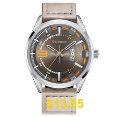 Curren #8295 #Male #Quartz #Movement #Watch #Leather #Strap #Date #Display #Wristwatch #- #MULTI-F