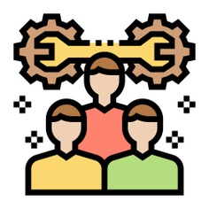 See more icon inspiration related to work, team, teamwork, member, group, skills, gears, employee, network, working, networking, person and people on Flaticon.