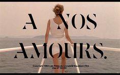 FFFFOUND! | Watch it: Á Nos Amours : #title #water #woman #boat #film