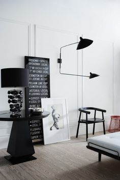 Antonia Magdalena #interior #white #design #black #and #decoration #deco