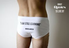 Richard MacVicar - Quotes to live by #boy #design #graphic #pants #learning #novelty #briefs #man #typography