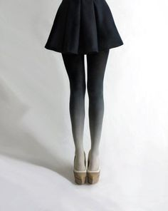 Gradient #tights #legs #skirt #gradient #fashion #grey