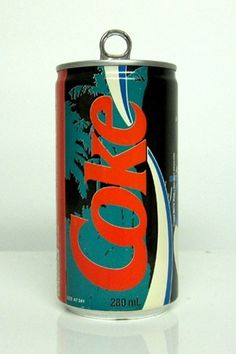 FFFFOUND! | TheDieline.com: Vintage Coke Cans #design #graphic