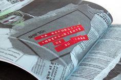 Art Chantry : Shut Up - The exhibition #punk #red #fanzine #branding #merch #design #exhibition #identity #vintage #envelope #art #chantry #collage