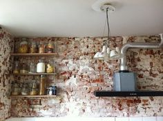 179189_475892049105993_1065481468_n.jpg (800×597) #brick #red #kitchen #wall #naked