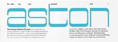 ken garland & associates:graphic design:aston cabinet #vintage #invitation #typography