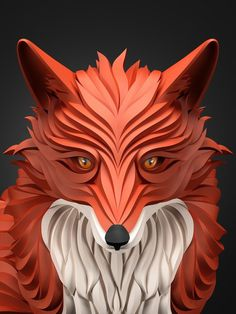 Predators – Amazing Digital Art by Maxim Shkret #illustration #fox #digital art