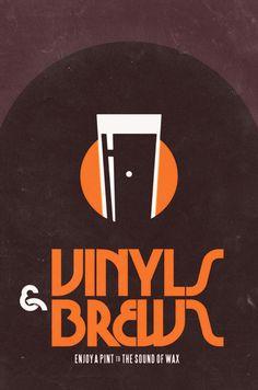 Vinyls & brews - fabio perez #beer #print #vintage