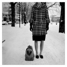 Photo by Per forsberg #forsberg #per #snow #coat #bag #bw #winter