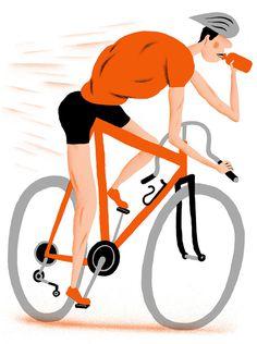 Hiut Denim Yearbook 2013 - www.bjornlie.com #orange #illustratio #bike #bjornlie