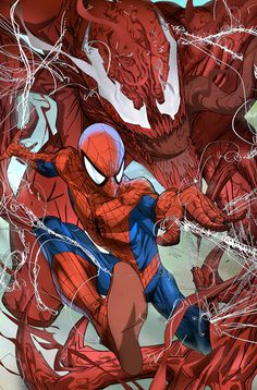 Spidey and Carnage by evnaccd on deviantART