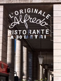 Design Work Life » Typography in Rome #typography #signage #rome #restaurant