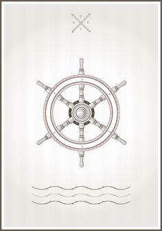 Shipwheel #shipwheel #sailor #illustration #poster