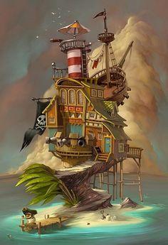 COOL SHOWCASE - Digital Art - Castaway on illustration