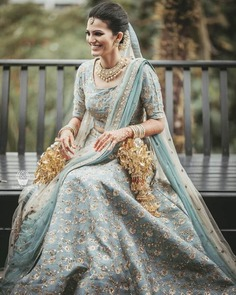 Set the Goals with This Blue Lehenga