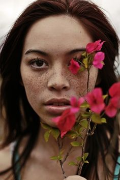 Portrait Photography by Brad Lou Tennant I Art Sponge #tennant #brad #photography #portrait #lou #flower #freckles