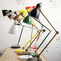 Industrial Task Table Lamps #tech #flow #gadget #gift #ideas #cool
