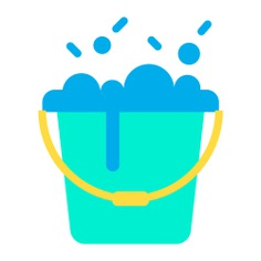 See more icon inspiration related to bucket, cleaner, wash, broom, clean, pail, brush, furniture and household, soap, washing, brushes and bubbles on Flaticon.