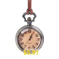 Seasonal #3152444 #Bronze #Embossed #Lace #Tan #Flip #Transparent #Pocket #Watch #- #COPPER