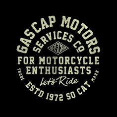 New gascap Motors tee, coming soon...stay tuned! on Behance Alexramonmas Studio