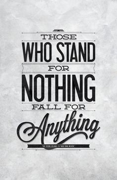 Stand For Something | Typography Poster