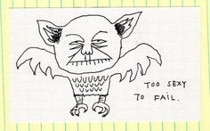 He Ent to the Blog : 2 of 4 #sexy #post #ink #owl #yoda #it #drawn #pen #and #hand #funny