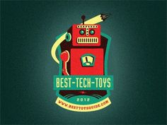 Best_tech_toys_emblem_new #vector #branding #robot #retro #logo #toy