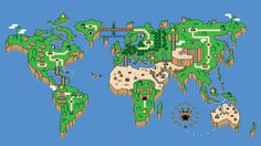 Super Mario Bros. World Map #world #mario #map #super