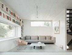 Built-ins Marly house, Karawitz Architects Image credit: Schnepp Renou #bookshelf #builtin #metal #stair