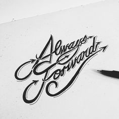 Process #lettering #ink #script #handlettering #illustration #hand #typography