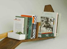 Book Shelf Soviet '70 Fly Massive Millworks #shelf #rack #walnut #interior #decor #wall #wood #book #woodworking #modernism