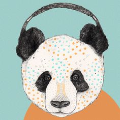 Sandra Dieckmann #music #illustration #panda #animals