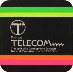 British Telecom Optical Fibre Technology Beer Mat