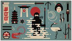 WooThemes #ninja #illustration #asia