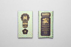 Marou x Wallpaper chocolate #emboss #packaging #chocolate #gold #wallpaper #marou