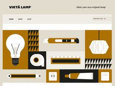 Viktä Lamp Website #illustration