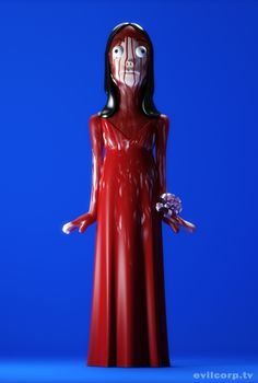 Evil Vinyl – Halloween Countdown #carrie #halloween #cgi #design #horror #vinyl #art #film #evil #toy