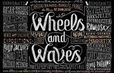 Wheels and Waves #type #design #sketch #typography