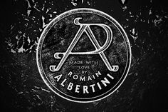 Personal rebranding romain albertini #albertini #circle #romain #black #seal #monogram #brand #vintage #logo #typography