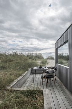This Summer Cottage Was Designed as a Solid Wooden Block