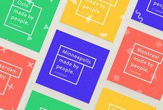 Citinerary by Frederique Matti #print #cards #colourful