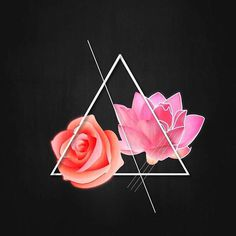Wildflower 🌸 • • • • • • • • • #graphicdesign #triangle #texture #design #create #pretty #pink #orange #flowers #abstr